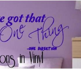One Direction Decal