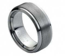 Tungsten wedding band ' FREE ENGRAVING ', MMTR023 9mm Tungsten Carbide engagement ring