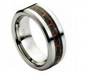 Tungsten wedding band ' FREE ENGRAVING ', MMTR205 Tungsten Carbide engagement ring