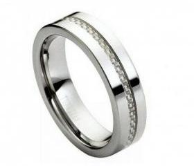 Tungsten wedding band ' FREE ENGRAVING ', MMTR173 Tungsten Carbide engagement ring