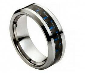 Tungsten wedding band ' FREE ENGRAVING ', MMTR158 Tungsten Carbide engagement ring