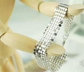 Stylish Silver Color Sequins Soft Bracelet, Free Shipping!