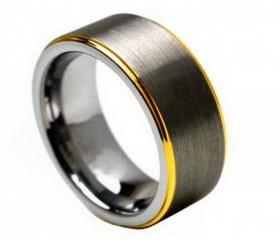 Tungsten wedding band ' FREE ENGRAVING ', MMTR132 Tungsten Carbide engagement ring