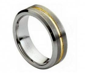 Tungsten wedding band ' FREE ENGRAVING ', MMTR131 Tungsten Carbide engagement ring