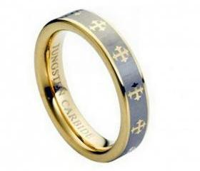Tungsten wedding band ' FREE ENGRAVING ', MMTR108 Tungsten Carbide engagement ring