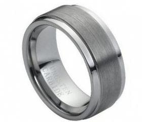 Tungsten wedding band ' FREE ENGRAVING ', MMTR005 9mm Tungsten Carbide engagement ring