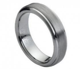 Tungsten wedding band ' FREE ENGRAVING ', MMTR008 6mm Tungsten Carbide engagement ring