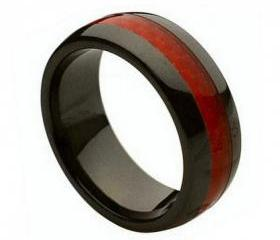 Ceramic Ring 'FREE ENGRAVING' Wedding Green carbon fiber Band MMCR234 8mm Black Ceramic engagement ring