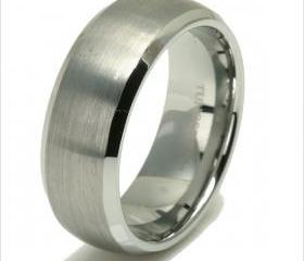 Tungsten wedding band ' FREE ENGRAVING ', MMDTR082 8mm Tungsten Carbide engagement ring