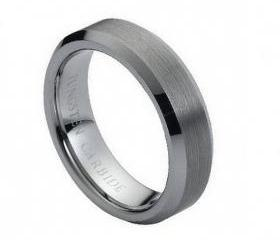 Tungsten wedding band ' FREE ENGRAVING ', MMDTR038 6mm Tungsten Carbide engagement ring