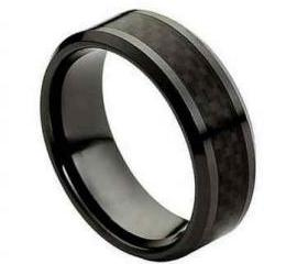 Ceramic Ring 'FREE ENGRAVING' Wedding carbon fiber Band MMCR215 8mm Black Ceramic engagement ring