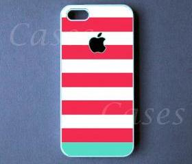 Iphone 5 Case - Pink Blue Stripes Iphone 5 Cover