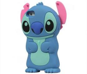 3D Cute Stitch Silicone Soft Skin Case Cover for iPhone 5 - Blue