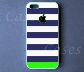 Iphone 5 Case - Blue Green Stripes Iphone 5 Cover