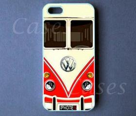 Iphone 5 Case - VW Mini Bus Red Iphone 5 Cover