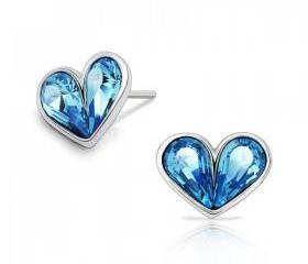 SWAROVSKI ELEMENTS Design Fresh Love Heart Shape Earrings