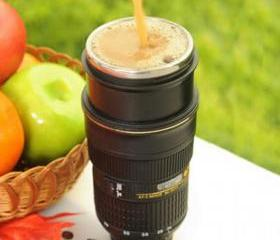 [grdx01027]new Fashion Camera Stainless Steel Coffee Cup