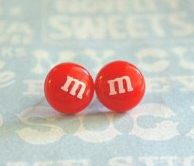 m&m's stud earrings