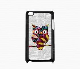 Ipod Touch 4 Case - Colorful Owl Ipod 4G Touch Case, 4th Generation Ipod Touch Cases