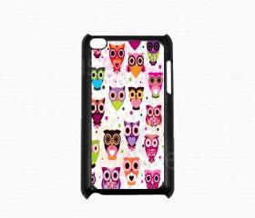 Ipod Touch 4 Case - Cute Owls Ipod 4G Touch Case, 4th Generation Ipod Touch Cases
