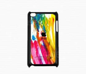 Ipod Touch 4 Case - Colorful Paint Ipod 4G Touch Case, 4th Generation Ipod Touch Cases