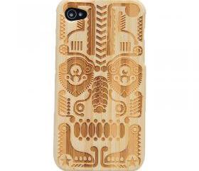 [grdx00012]Totem Bamboo Hard Case Cover for Iphone4/4s
