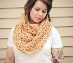 Crochet Infinity Tunnel Scarf