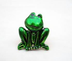Green Frog Ring, Jewelry for her, Adjustable Ring, Under 20