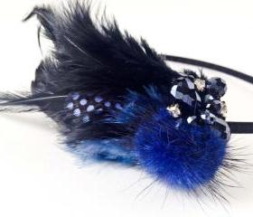 Blue Feather haedband