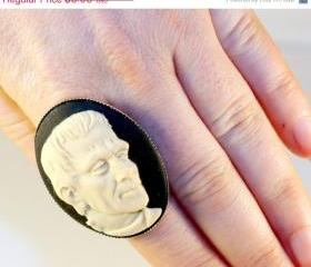 Huge Frankenstein Cameo Ring