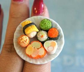 sushi plate ring