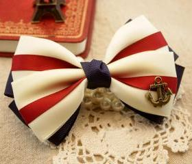 beautiful Nice Anchor Hair Bow