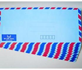 Blue Airmail Envelopes