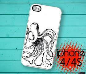 Iphone 4/4S Hard Case Nautical Octopus