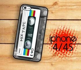 Iphone 4/4S Hard Case Mix Tape Rainbow Cassette Tape