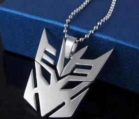 NEW Mens Transformers Titanium Steel Pendant Necklace