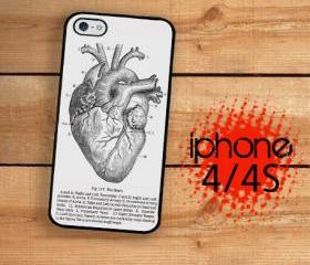 iPhone 4S, iPhone 4 Hard Case Medical Heart Diagram, Grays Anatomy