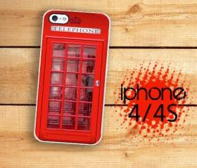 iPhone 4S, iPhone 4 Hard Case British Red Phone Booth