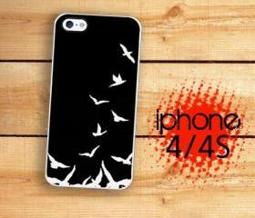 iPhone 4S, iPhone 4 Hard Black Bird Flying