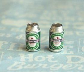 heineken stud earrings