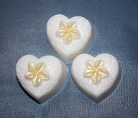 Plumeria Heart Soaps