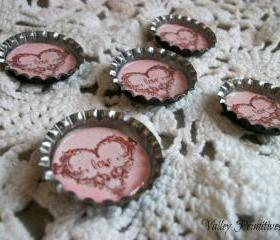 Valentine Love Bottle Cap Magnets