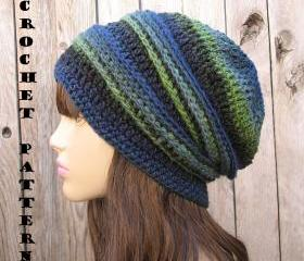 CROCHET PATTERN!!! Crochet Hat - Slouchy Hat, Crochet Pattern PDF,Easy, Great for Beginners, Pattern No. 32