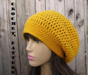 CROCHET PATTERN!!! Crochet Hat - Slouchy Hat, Crochet Pattern PDF,Easy, Great for Beginners, Pattern No. 34