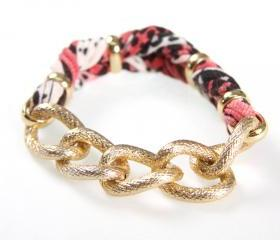 Fabric Womens Bracelet Braided Cuff Jewelry Friendship Women Knot Tribal Wrap Arm Infinity Boho Stack Stacking Bangles Bracelets Red Black