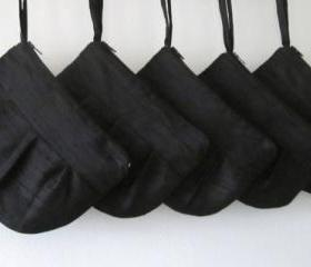 Wedding / Bridal / Bridesmaid Clutch - Black hidden Wristlet Clutch - Perfect Bridesmaid Gift (available in all colours)