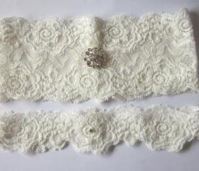 Bridal Garter Set- Now Available in IVORY (including toss garter) Special Offer for Limited Time ONLY 15% Off