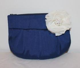 Wedding / Bridal / Bridesmaid Clutch / Wristlet clutch - Royal Blue Clutch Purse - Perfect Bridesmaid Gift