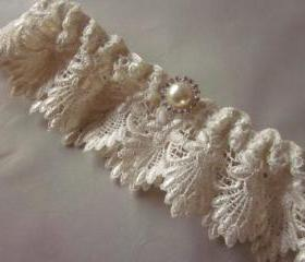 Bridal Garter - NEW 2012 Range - Vintage Inspired Garter Set - Ivory Back in Stock :)