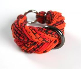Bangles Braided Bracelet Chunky Jewelry Bangle Fabric Cuff Tangerine Tango Apple Red Friendship Women Tribal Boho Stack Bracelets Orange 